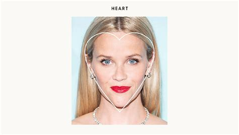 heart shaped faces most attractive most attractive face shape in women