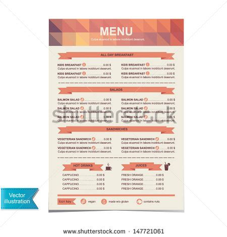 Food Menu Stock Photos Images Pictures Shutterstock S Mores Menu Template