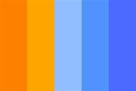 orange and blue color scheme orange to blue color palette