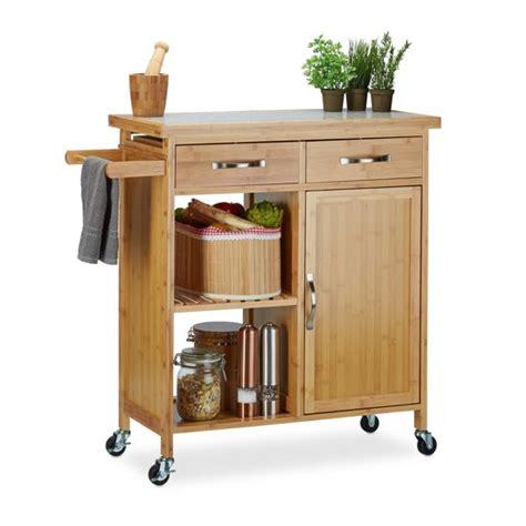 houten keukentrolley bol relaxdays serveerwagen hout keukentrolley
