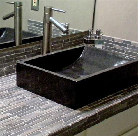 black bathroom sinks black marble trough vessel sink black finger tile modern bathroom sinks boise