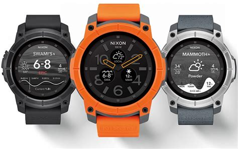 rugged smartwatch nixon to launch the mission rugged android wear sports smartwatch toughgadget