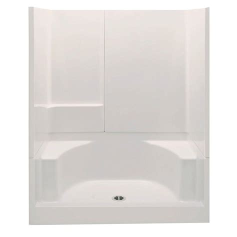 3 Shower Stall With Seat Aquatic Remodeline Smooth Wall 60 In X 34 In X 72 In 3