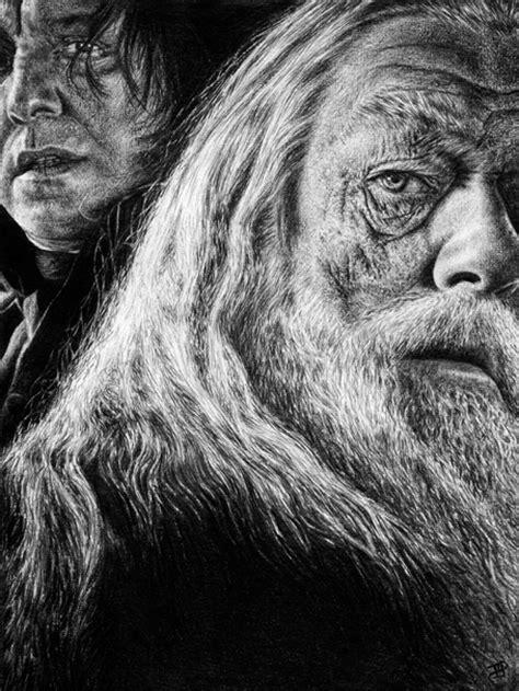 Albus Dumbledore and Snape - Harry Potter Fan Art
