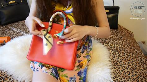 Twilly Hermes Sepasang 2pcs 10 tying hermes twilly on birkin for the time cherry tung
