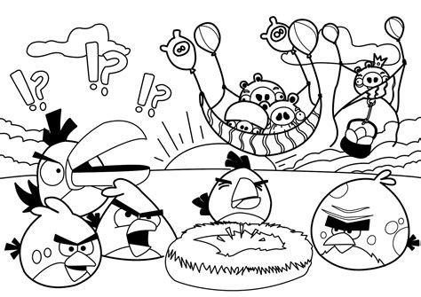 free coloring pages of angry birds epic