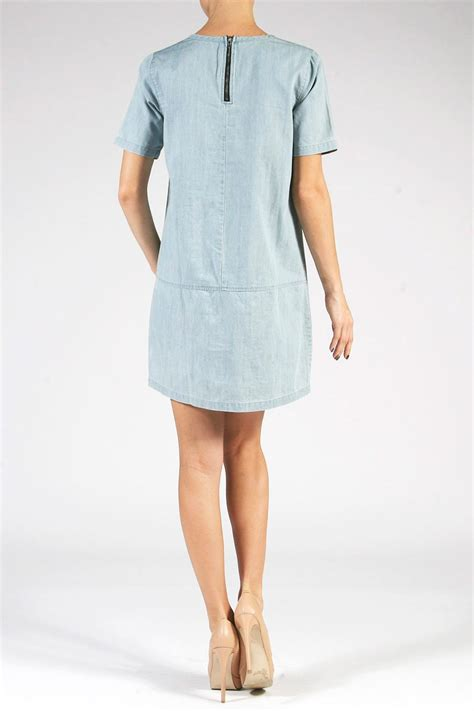 Basic Denim Dress active basic denim shift dress from iowa city by revival