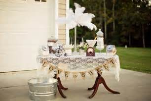Kara s party ideas vintage backyard wedding table party planning ideas