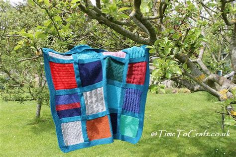 Knitting A Patchwork Blanket - patchwork knitted blanket