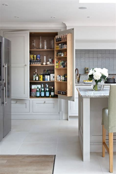 stand alone pantry cabinets transitional style for kitchen