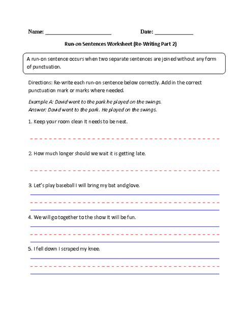 Sentence Fragment Worksheet Pdf by Worksheets Fragments And Run Ons Worksheet Opossumsoft