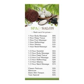 salon rack card template spa and salons on