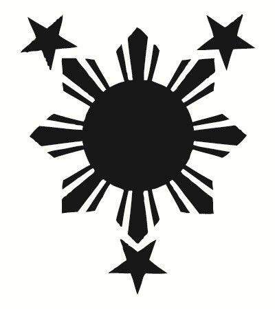 filipino star tattoo flags sun and philippines on