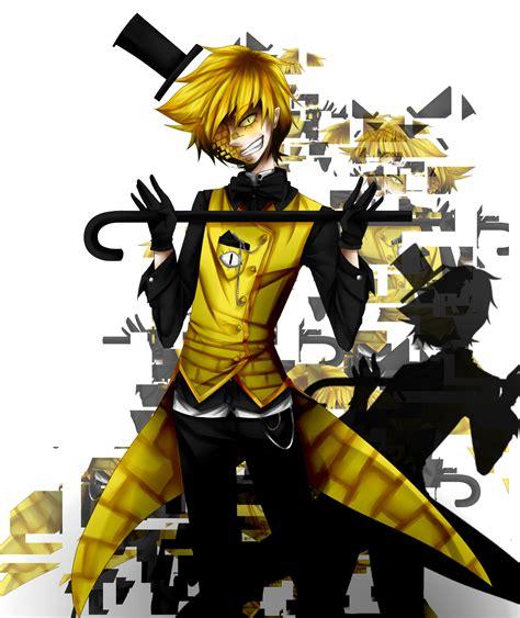bill cipher anime bill cipher human by putzischen on deviantart
