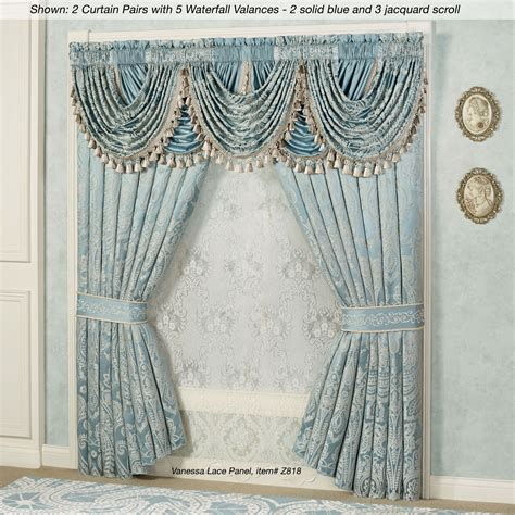 valances and curtains regency waterfall valance window treatment