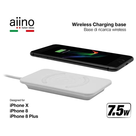 Charger Wireless Apple Iphone X 8 8 Plus Ios Android Note 8 S8 Plus aiino wireless qi 7 5w charger for iphone 8 8 plus x premium white fast charging istores