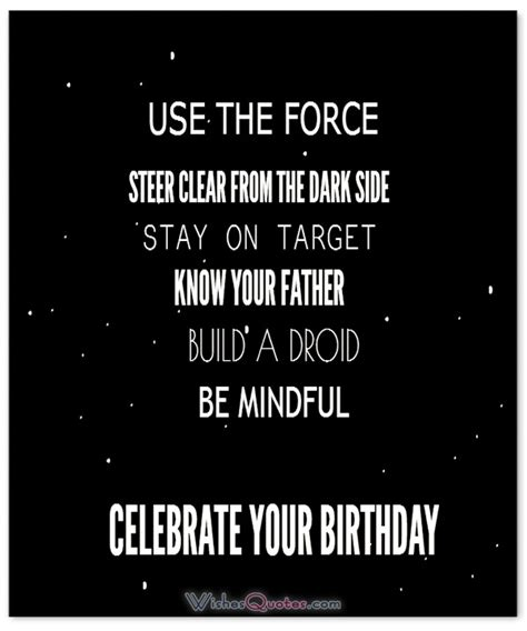 Wars Birthday Quotes Star Wars Quotes Good Morning And Birthday Wishes For Fans