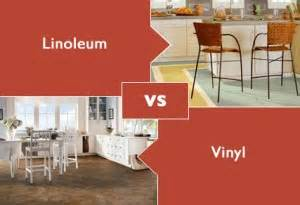 difference between linoleum and vinyl flooring express