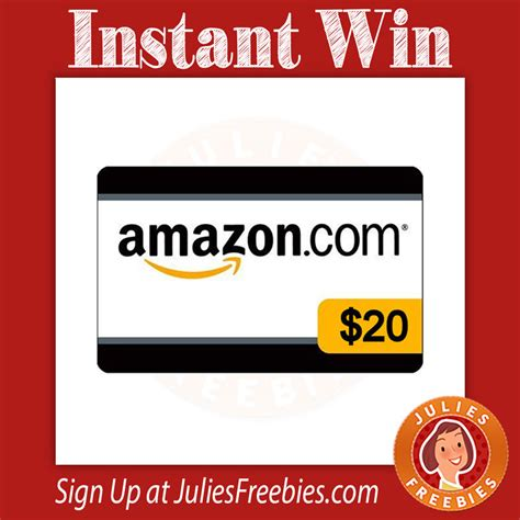 Instant Amazon Gift Card - instantly win a 20 amazon gift card julie s freebies