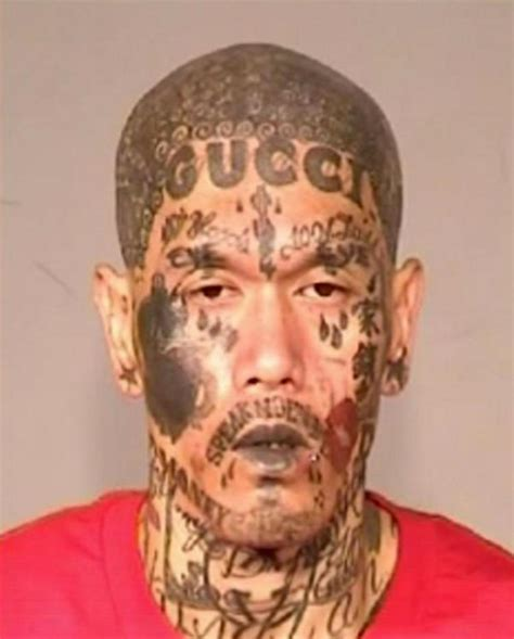 california gang member with crazy tatted face arrested