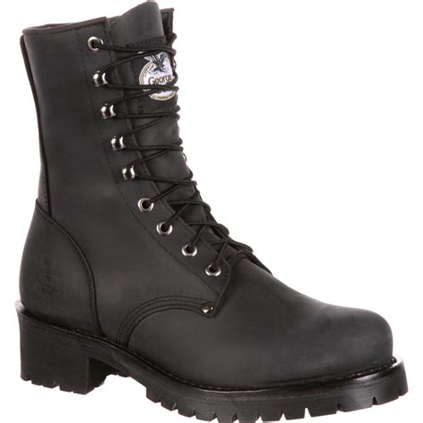 mens work boots brands s boot logger work boot black gb00047 ebay