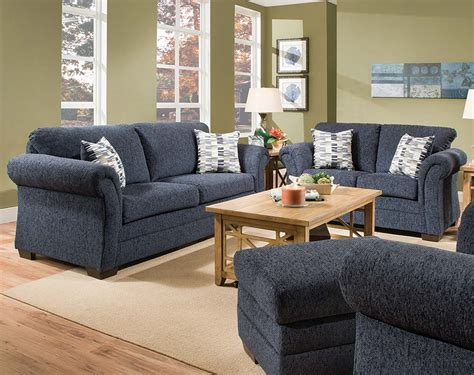 Navy Sofa Set by Blue Sofas And Loveseats Light Blue Fabric Modern Sofa
