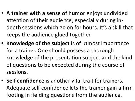 let s go gling the vital voice attributes of a great corporate trainer