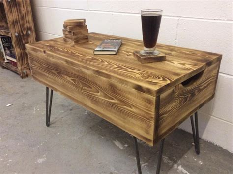 Home Made Coffee Table Recycled Pallet Coffee Table Diy And Crafts