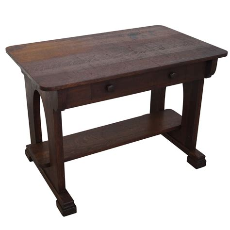 antique oak library table antique mission oak library table chairish