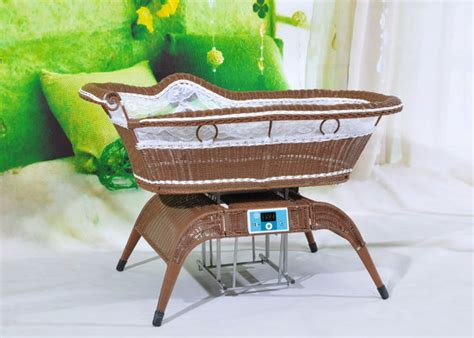 automatic swinging bassinet unique design electric swing baby cradles longjiang town