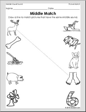 pattern matching beginning of line middle sound matching picture matching beginning