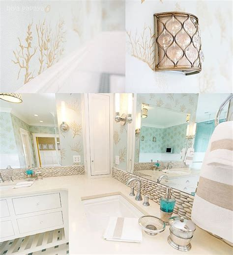 green themed bathroom beach themed bathroom loving the brown and white with the