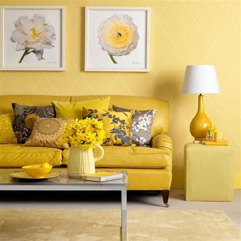 Yellow And Grey Room Decor by 29 Stylish Grey And Yellow Living Room D 233 Cor Ideas Digsdigs