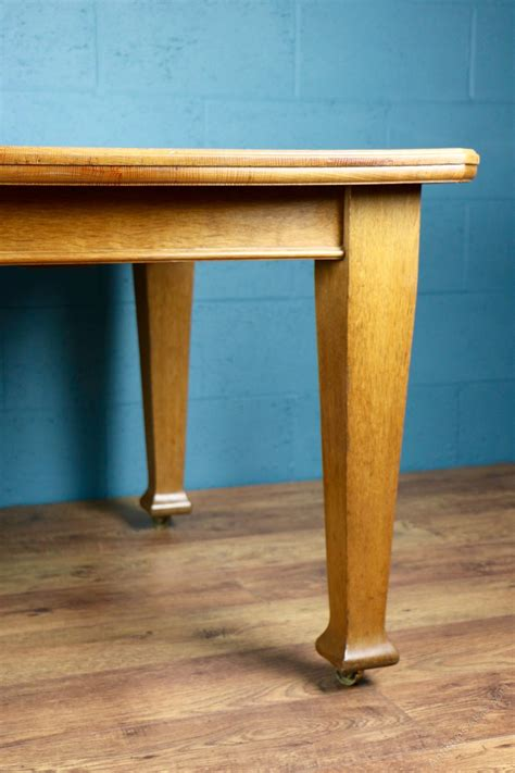 arts and crafts oak dining table antiques atlas