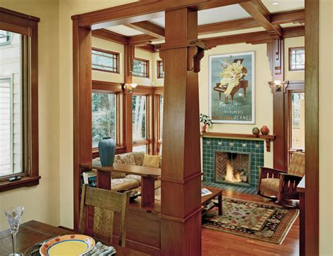 arts and crafts home interiors family room additions using arts and crafts style by
