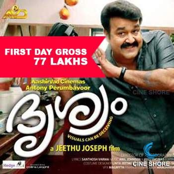 s day gross drishyam day collection
