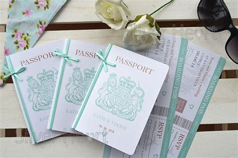 wedding invites after abroad passport wedding invitations for weddings abroad passport