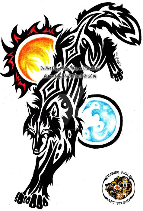 c revamp wolf of the sun n moon tribal by i