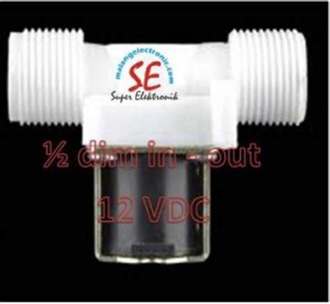 Solenoid Valve Plastik Ukuran Drat 12 X 12 220volt solenoid valve 12vdc harga murah jual kran otomatis 12vdc 1 2 dim in out malang