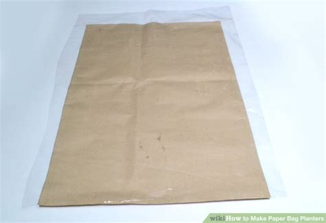 Steps Of Paper Bag - how to make paper bag planters with pictures wikihow