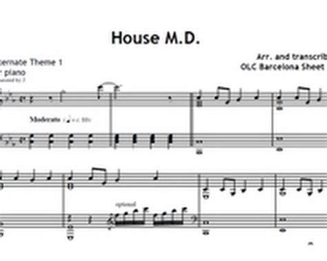 house md theme music my sheet music transcriptions