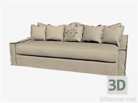 Model Sofa Bed 3d Model Sofa Bed Three Seated Light Manufacturer Curations Limited Id 18799