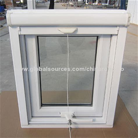 awning window screen pvc awning window with retractable screen handle with key