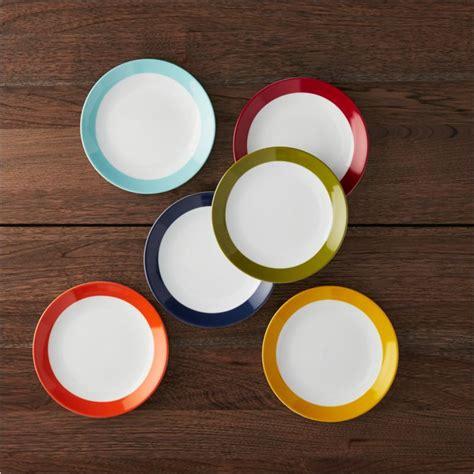 party plates set    appetizer dessert plates reviews crate  barrel