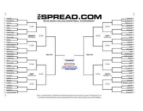 blank march madness bracket template blank march madness bracket