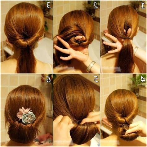 easy buns hairstyles step by step simple hairstyles step by step guide 5 interesting bun