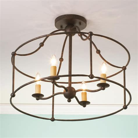 wrought iron flush mount lighting wrought iron frame ceiling lantern ceiling light flush