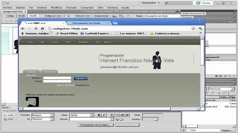 tutorial html dreamweaver cs5 dreamweaver cs5 tabla flotante y imagen de sustitucion