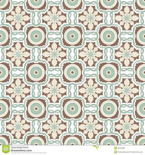 flower pattern tiles old floral tiles stock vector image of decoration