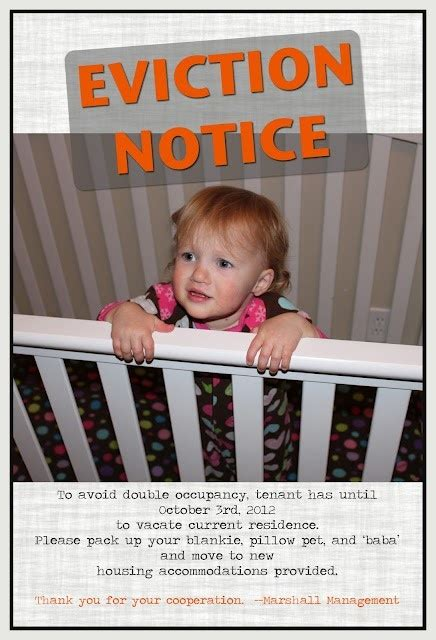 second baby crib second baby announcement crib eviction notice baby